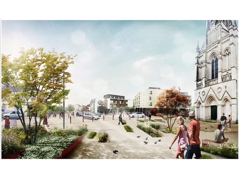 Aménagement des espaces publics du centre-ville de Changé (53)