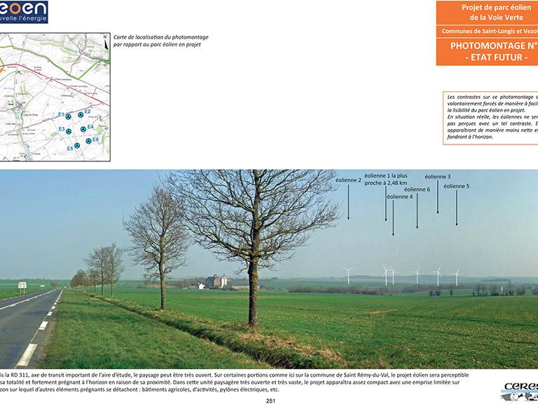 Projet éolien de la Voie Verte – Étude d'impact (72)