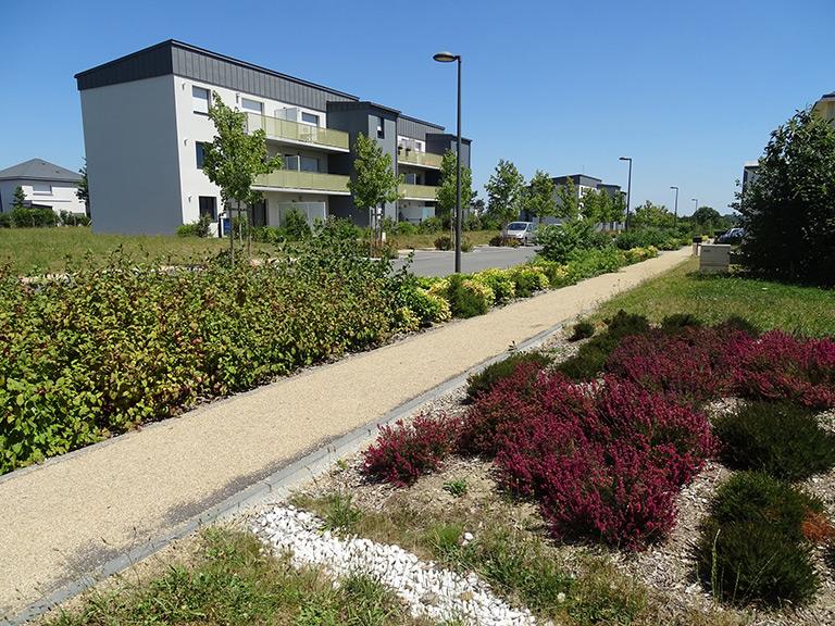 Aménagement d'espaces publics à Bourgbarré (35)