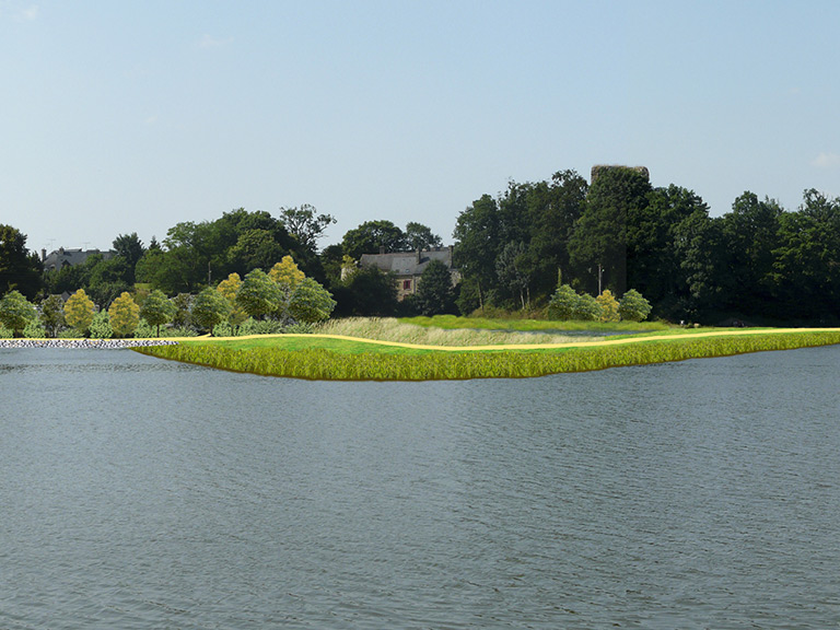 Aménagement du site inscrit du domaine de l'étang (35)
